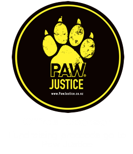 one dollar from every purchase goes to Paw Justice